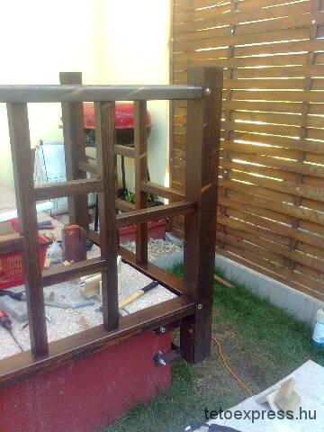 2012. Fa korlát építése borovi fenyőből, Szigetszentmiklós