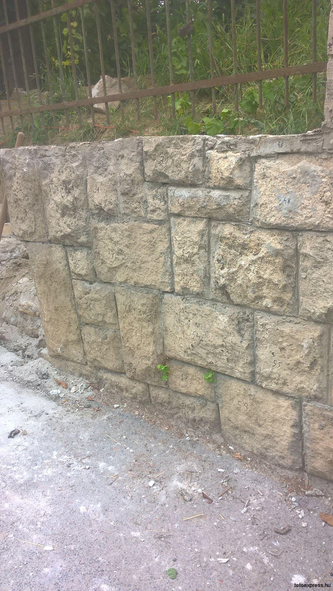 Kő kerítés bontásról készült képek