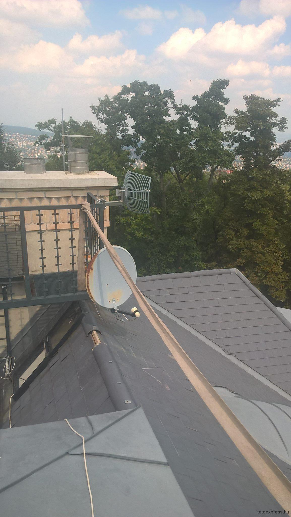 Palatető javítás, palacsere / 2016. augusztus, Budapest