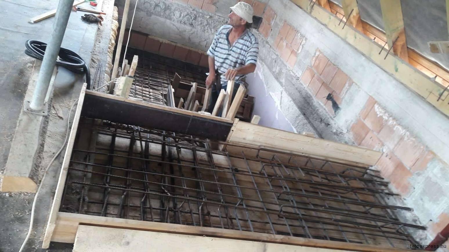 Vasbeton lépcső építés Budapesten