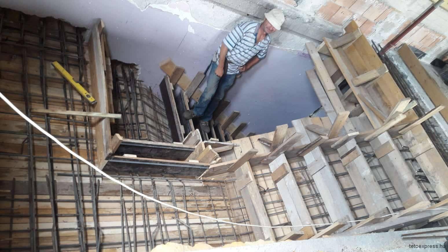 Vasbeton lépcső